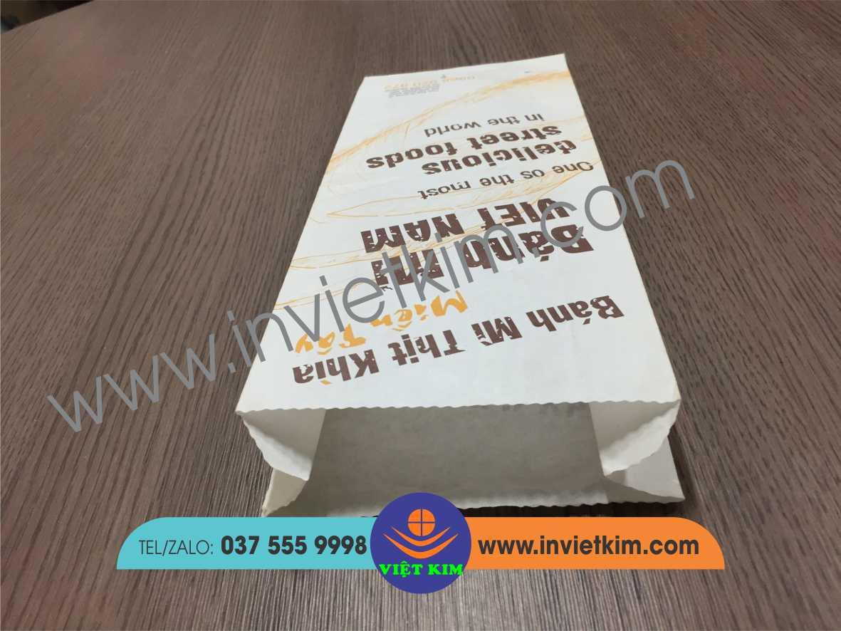 chất liệu giấy MG in túi bánh mì