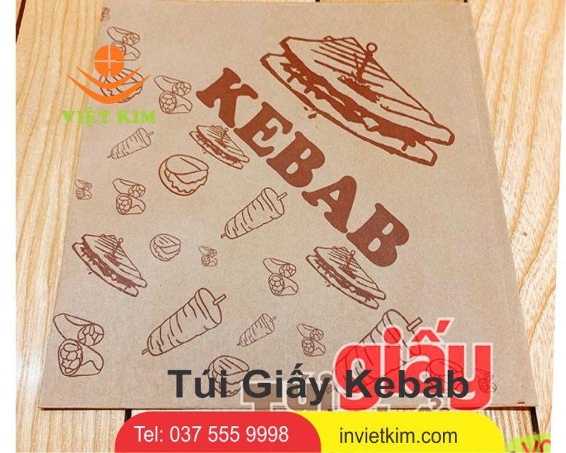 túi giấy bánh mì kebab