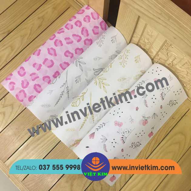 giấy gói quần áo in họa tiết