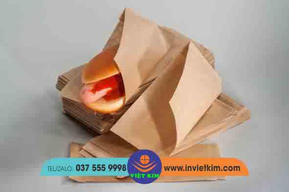 chất liệu giấy kraft in túi bánh mì