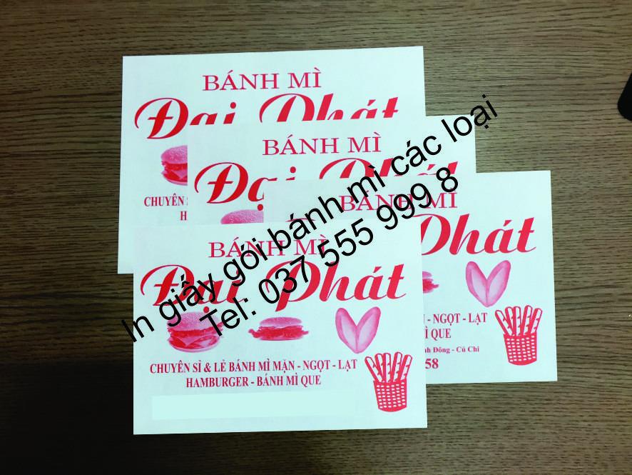 cung cấp giấy gói bánh mì cho chuổi cửa hàng Hà nội – Hồ chí minh – toàn quốc